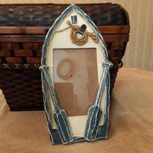 Rowboat Shape Standing/Hanging Photo Picture Frame